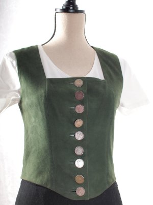 Sportalm Traditional Vest forest green leather