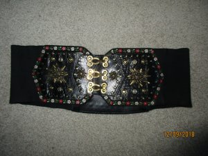 Waist Belt black leather