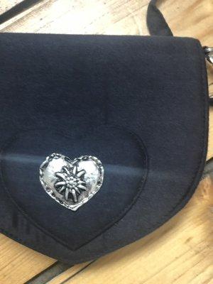 Trachtenhandtasche in dunkelblau, Neu und ohne Ettiket