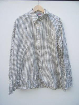 Trachtenhemd karriert grau Vintage Retro Gr. 46 oversize
