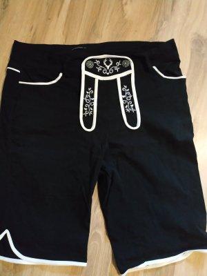 Folkloristische broek wit-zwart