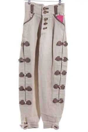Pantalon bavarois beige clair-brun style extravagant