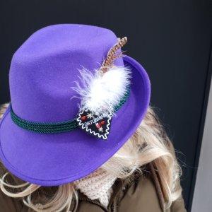 Chapeau bavarois lilas-bleu violet