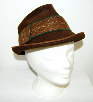 Geiger Chapeau bavarois marron clair-vert foncé laine