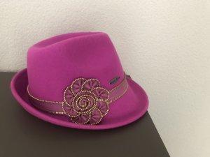 Folkloristische hoed roze-goud