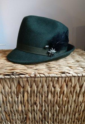 Hallhuber Cappello verde scuro