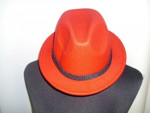 Traditional Hat red mixture fibre
