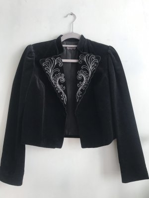 Traditional Jacket black-silver-colored