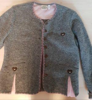 Country Lady Folkloristische jas grijs-roze