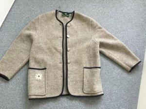 Giesswein Veste en laine argenté-noir laine vierge