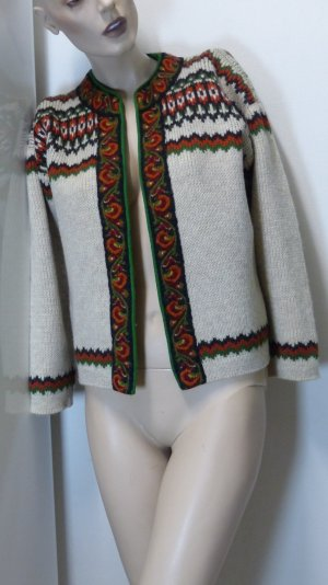 Veste bavaroise multicolore laine