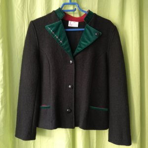 Wool Jacket black-forest green new wool