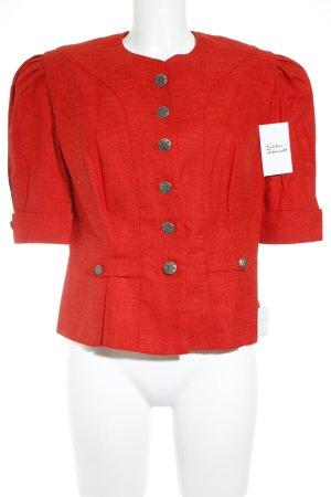 Veste bavaroise rouge style classique