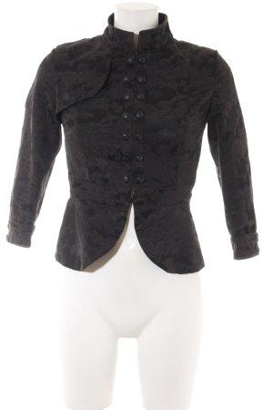 Giacca tradizionale nero motivo floreale stile stravagante