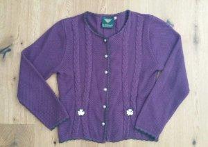 Trachtenjacke, violett, Gr 42 (klein geschnitten)