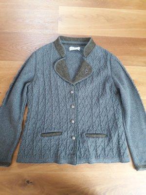 Almsach Cardigan olive green-grey wool