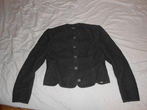 Giesswein Giacca di lana nero Lana vergine