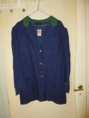 Folkloristische jas korenblauw-bos Groen