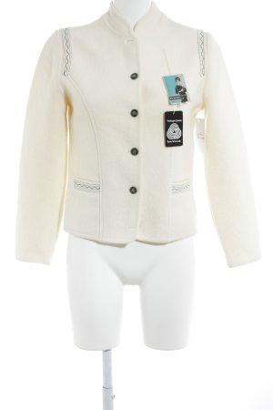 Veste bavaroise blanc cassé style campagnard