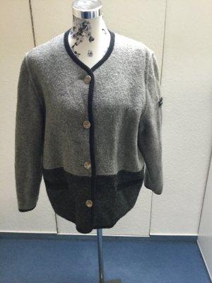 Folkloristische jas grijs-donkergrijs Scheerwol