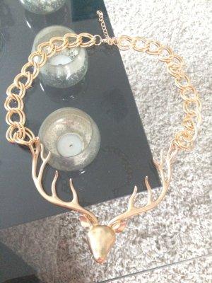 Trachtenkette Hirschkopf Gold