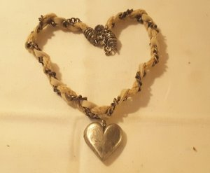 Necklace sand brown cotton