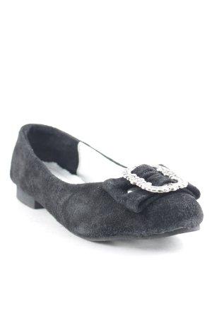Trachtenkini Ballerinas mit Spitze schwarz Elegant