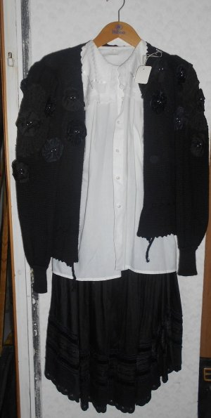 Dirndl black-white cotton