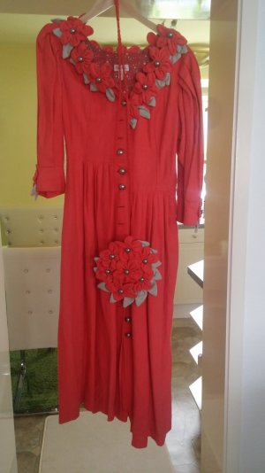 Trachtenkleid von Inzy , rot , Gr. 42