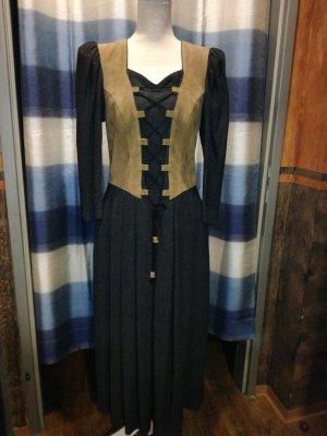 Moser Vestido tradicional negro-marrón