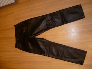Avitano Traditional Leather Trousers black leather