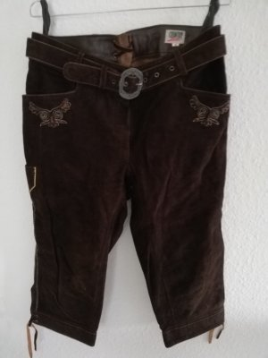 Country Line Leather Trousers dark brown
