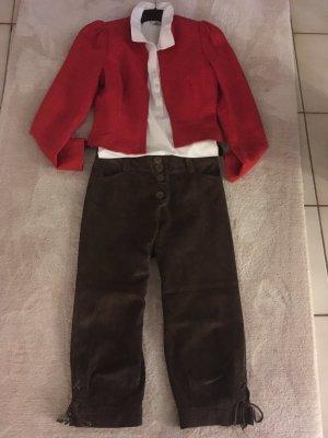 Pantalón de cuero tradicional marrón oscuro