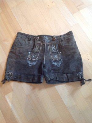 Stockerpoint Pantalone in pelle tradizionale multicolore Scamosciato