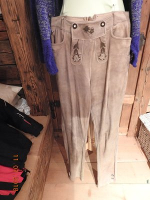 Traditional Trousers sand brown leather