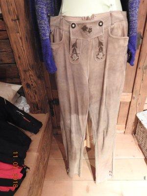 Pantalon bavarois brun sable cuir
