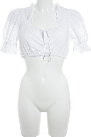 Trachtenmanufaktur München Folkloristische blouse wit country stijl