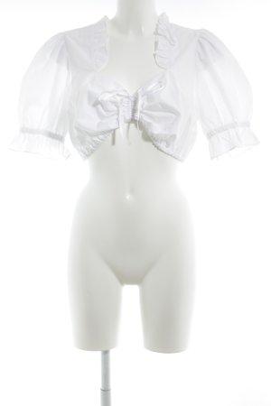 Trachtenmanufaktur München Folkloristische blouse wit simpele stijl