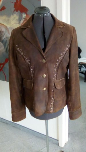 Traditional Jacket bronze-colored leather