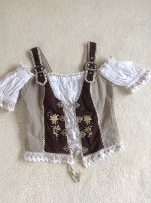 Traditional Camisole cream-dark brown