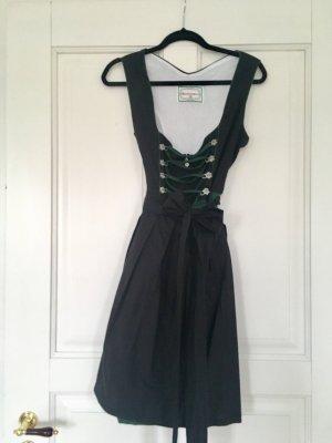 TRACHTENPOINT Dirndl Midi Kleid Tracht schwarz dunkelgrün Gr. 44