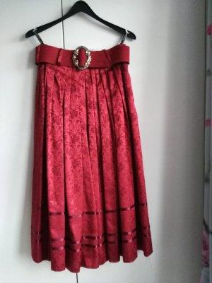 Trachtenrock Damen Rock rot Gr. 38