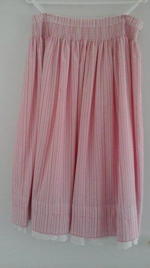 Trachtenrock dunkelrosa-weiß-gestreift