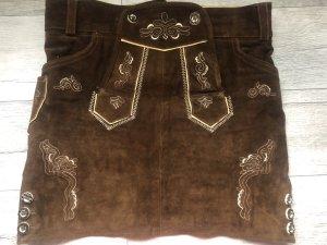 Falda folclórica marrón-marrón oscuro