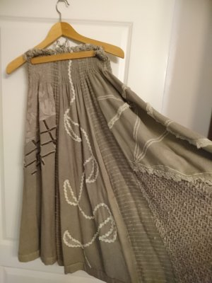 Traditional Skirt beige-nude wool