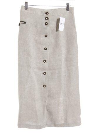 Trachtenrock hellbeige-graubraun klassischer Stil