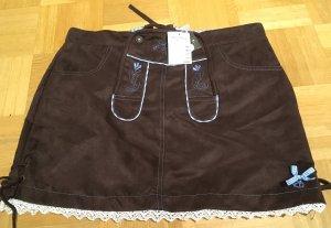 Leren rok zwart bruin Polyester