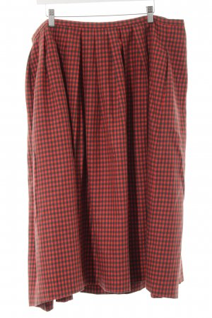 Traditional Skirt red-forest green check pattern extravagant style