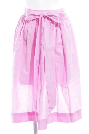 Delantal folclórico rosa estampado a lunares estilo romántico