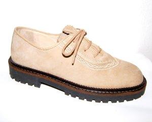 Chaussures à lacets chameau cuir